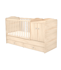 Maxi Kombi 2 ajtós gyermekágy - Borostyán