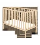 120-as Egyenesvégű Nyitott Gyermekágy - Borostyán