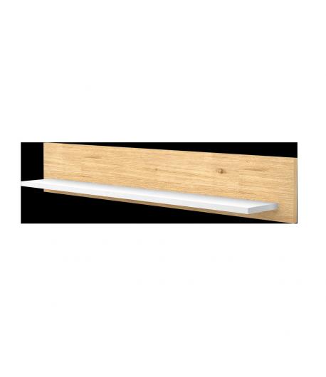 800-as egyenes falipolc -Mandula-fehér