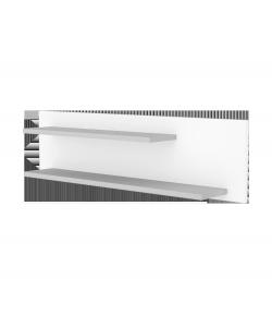 800-as Egyenes falipolc - Ezüst-fehér