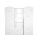 Csillagos álló szekrény bal elem Félix-fehér