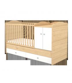 Maxi Kombi 2 ajtós gyermekágy - Mandula - fehér