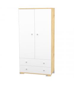 2 Ajtós 2 fiókos álló szekrény FANNI Mandula - fehér
