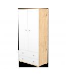 2 Ajtós 2 fiókos álló szekrény - Mandula-fehér