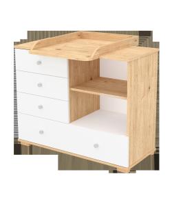 107-es pelenkázó szekrény FANNI Mandula - fehér