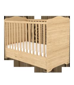 Zárt végű ágyneműtartós gyermekágy - Mandula-Fehér