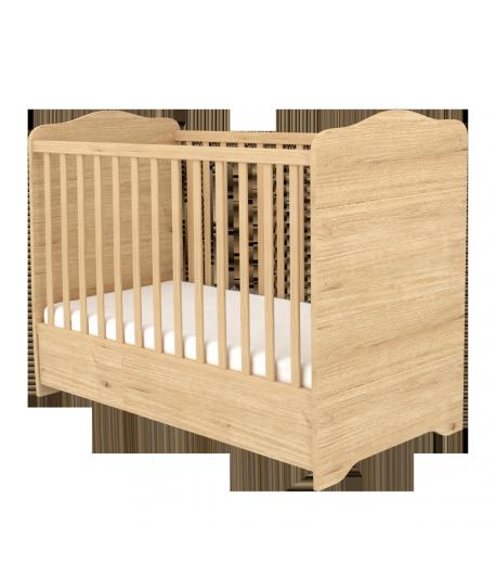 120-as Zárt végű Ágyneműtartós Gyermekágy - Mandula
