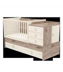 Multikombi gyermekágy - Krém-fűz 70 x 120-as