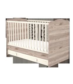 70x140-es Átalakítható Gyermekágy Ágyneműtartós - Krém-fűz