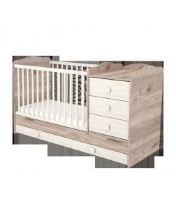 3 fiókos kombinált gyermekágy - Krém-fűz 60 x 120-as