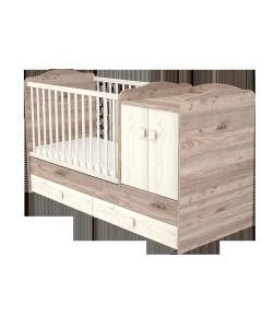 Maxi Kombi 2 ajtós gyermekágy - Krém - fűz