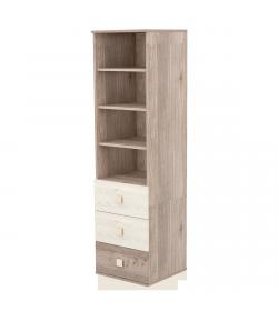 Háromfiókos nyitott szekrény - Krém - fűz