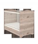 Zárt végű ágyneműtartós gyermekágy - Krém-fűz