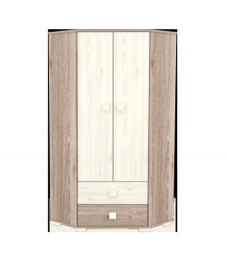 Sarokszekrény 2 ajtós 2 fiókos -Borostyán