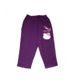Sötét lila Hello Kitty kislány pamut nadrág 86-os