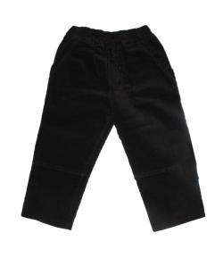 Fekete kord bársony fiú nadrág 110-es