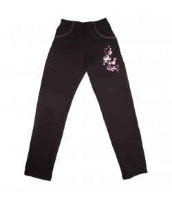 Teddy's - Barna színű, elől nyomott mintával díszített kislány nadrág 122-es