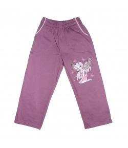 Tillisz Bt - Lila színű,, csillámos filmnyomással díszített kislány nadrág 110-es
