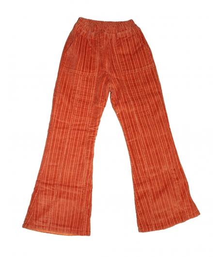 Brando 2000 narancs színű bélelt kord bársony nadrág 134-es