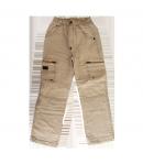 Dodipetto - Drapp színű bélelt vászon nadrág 7 éves méret