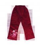 Boniface - Bordó színű bélelt bársony nadrág 98-as