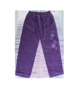 Zsil- Lila színű microcord bársony bélelt kislány nadrág 110-es