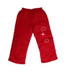 Tillisz Bt- Piros színű ballonos jellegű, belül bélet kislány nadrág