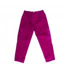 Zsil - Málna színű, karcsúsított kord, bélelt kislány nadrág többféle méretben