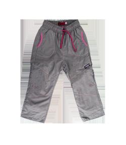 Mikka - Világosszürke színű bélelt kislány nadrág többféle méretben