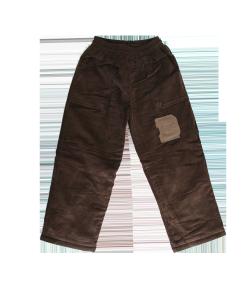 Gondola - Sötét keki színű kord kisfiú bélelt nadrág 104-110-es
