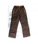 Mikka - Barna színű fiú bélelt nadrág 116-os