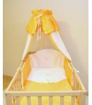 Baby Dream Exclusive 4 részes bébi ágynemű garnitúra muszlinos - Barack/hófehér