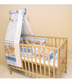 Baby Dream 4 részes babaágynemű - kék alapon- macis
