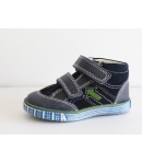 Sötétkék/zöld két tépőzáras Siesta Richter bőr cipő 20-as