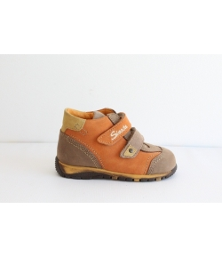 Siesta barna/narancs Nubuk cipő - magas szárú 22-es