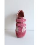 Rózsaszín 2 tépős Siesta Richter velúr bőr cipő 28-as