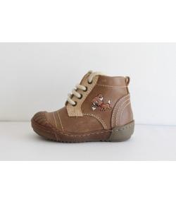 Szamos bőr cipő magas-szárú fűzős