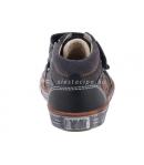 Fekete/narancs két tépőzáras Siesta Richter bőr cipő 20-as