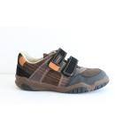 Barna/Fekete velúr két tépőzáras Siesta Richter cipő