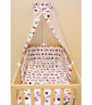 Gyermekágynemű - Autós (muszlin baldachinos)