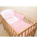 Gyermekágynemű 3 részes –3 Szív Rózsaszín