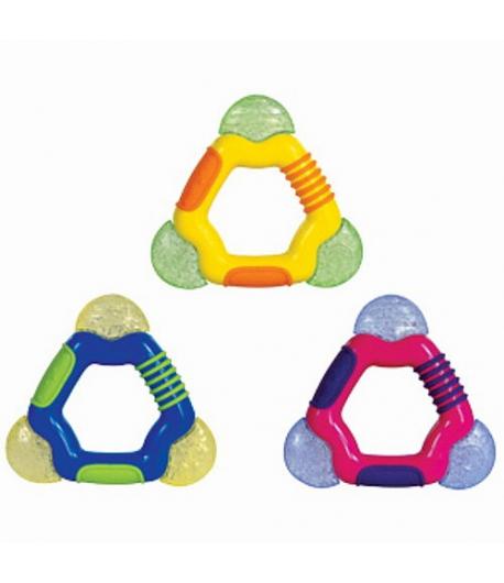 Nuby háromszög alakú zselés rágóka - 1 db rózsaszín