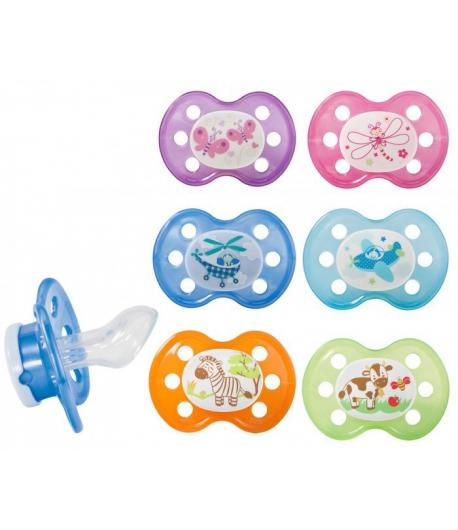 Baby Nova -Cumi szilikon, fogszabályzós, fogó nélküli, 2-es méret, 2db/csom