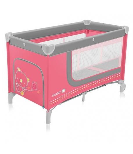 Baby Design Holiday utazóágy emelőbetéttel Pink
