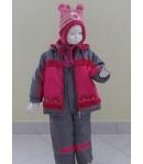Zsil 2 részes lány bélelt téli szett szürke