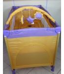Lorelli Zippy 2 utazóágy lila - sárga