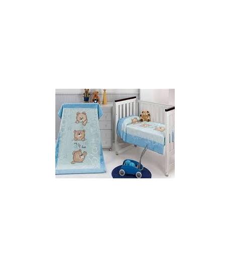 MORA Lux Plus 827 Pléd 80x110 cm BLUE díszdobozos