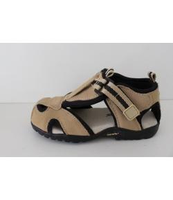 Drapp/Fekete Nubuk szanda-cipő Siesta - haránt emelős