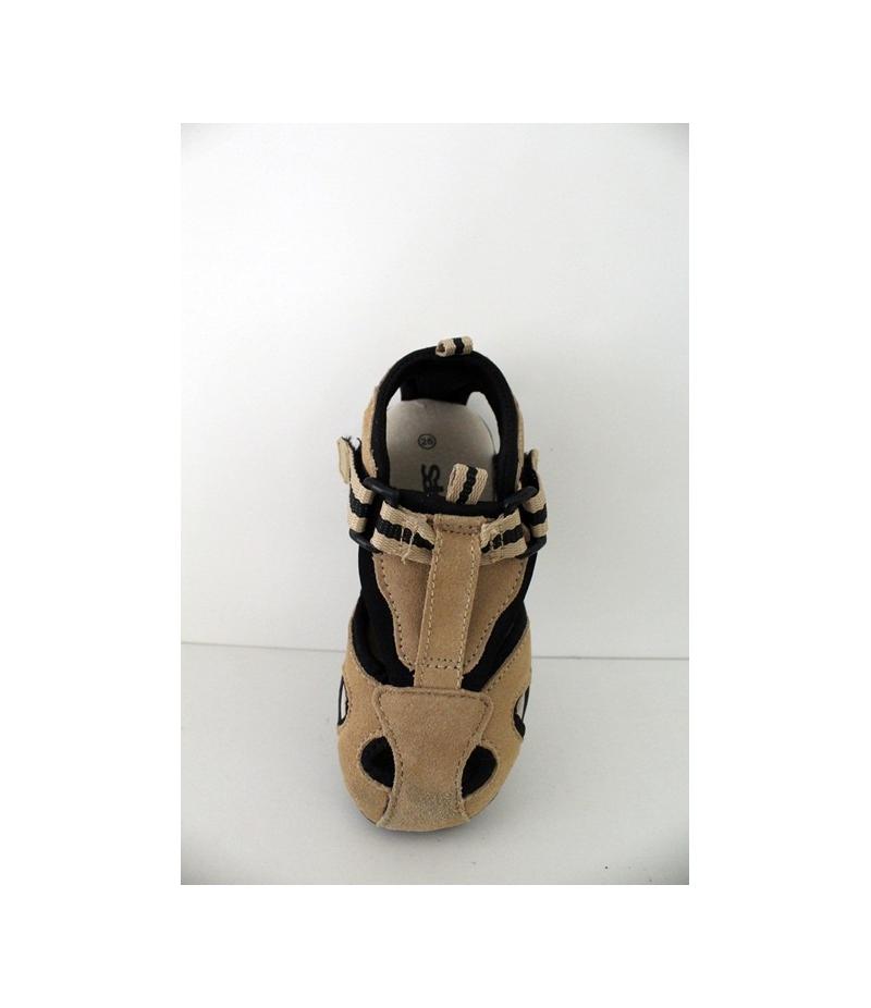 Drapp Fekete Nubuk szanda-cipő Siesta - haránt emelős 421ebb3220