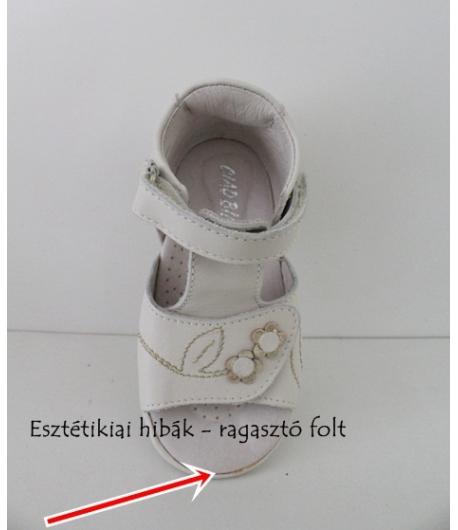 CIAO BIMBI törtfehér szandál haránt-emelős 22 - es méret ESZTÉTIKAI HIBÁS